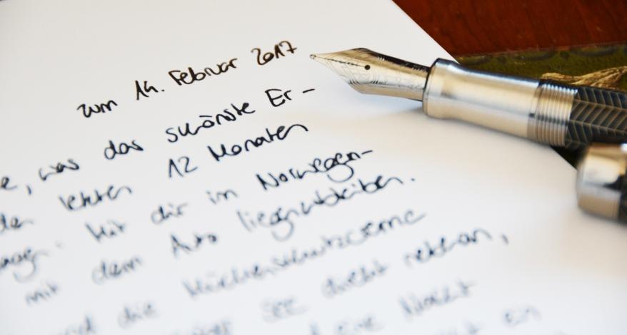 Liebesbriefe ihn schöne für Liebeserklärung ᐅ